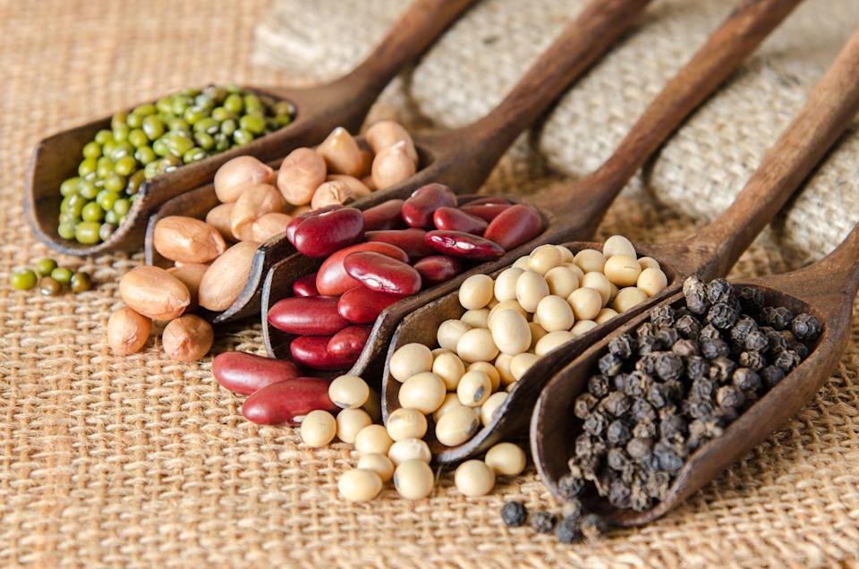 """<p>It sounds counterintuitive, but if eating foods such as <a href=""""http://www.bicycling.com/health-nutrition/a29038779/black-bean-pasta-vs-wheat-pasta/"""" rel=""""nofollow noopener"""" target=""""_blank"""" data-ylk=""""slk:beans"""" class=""""link rapid-noclick-resp"""">beans</a> and cruciferous veggies like broccoli make it feel like you've swallowed a basketball, relief can come from actually eating more not less.</p><p>Exposing your body to these foods more often can help train it to digest them better. So if your habit of eating beans only once in a blue moon brings to mind a popular rhyme, try adding them to your diet on a more regular rotation, and you'll likely suck the air out of that midriff balloon and silence the toot. """"Eating any poorly-tolerated vegetables cooked instead of raw can also make them easier to digest as you build up a tolerance,"""" adds Sumbal.</p>"""