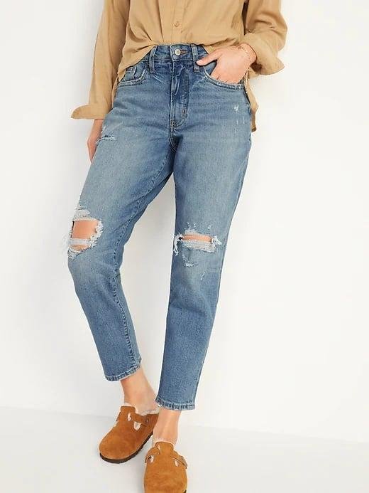 <p>These <span>Old Navy High-Waisted Curvy O.G. Straight Ripped Jeans</span> ($50) can be a year-round staple year after year (especially since there's extra room to prevent a gap in the back).</p>