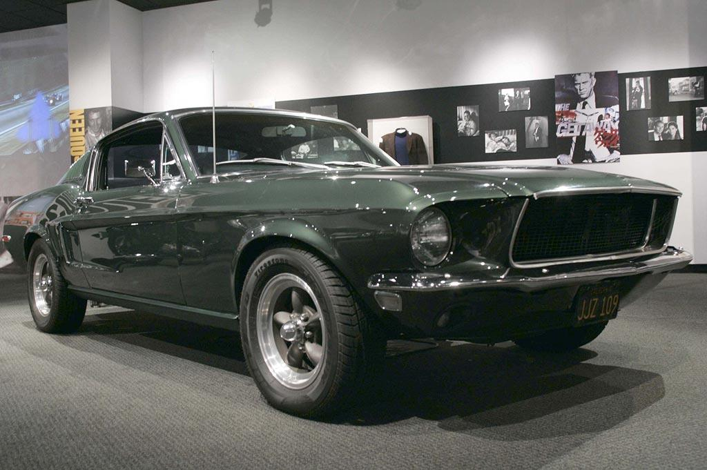 """1968 390 GT V8 Ford Mustang  As Seen In: <a href=""""http://movies.yahoo.com/movie/1800042439/info"""">Bullitt</a>  Key Technical Specs: 325 horsepower; turns the hilly streets of San Francisco into the American Le Mans.   This pine green hunk of steel and attitude gets more air time than Michael Jordan in a shoe ad. It is the ride for running a Dodge Charger filled with mafia hit men off the road. This car has proven to be so iconic that 40 years later Ford has revived its look and feel for the 2008 Bullitt Mustang.   Available Options: Allows you to look cool in a turtleneck/blazer combo."""