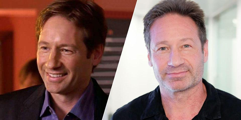 """<p>The <em>X-Files</em> alum only had one episode on season six (""""Boy, Interrupted""""), but he shined as Jeremy, Carrie's high school boyfriend who sweeps her off her feet. Not long after his <em>Sex and the City</em> visit, Duchovny embarked on his first of seven years with <em>Californication</em>. He's since completed two more seasons of <em>The X-Files</em> and also popped by the<em> Twin Peaks</em> revival for one episode. </p>"""
