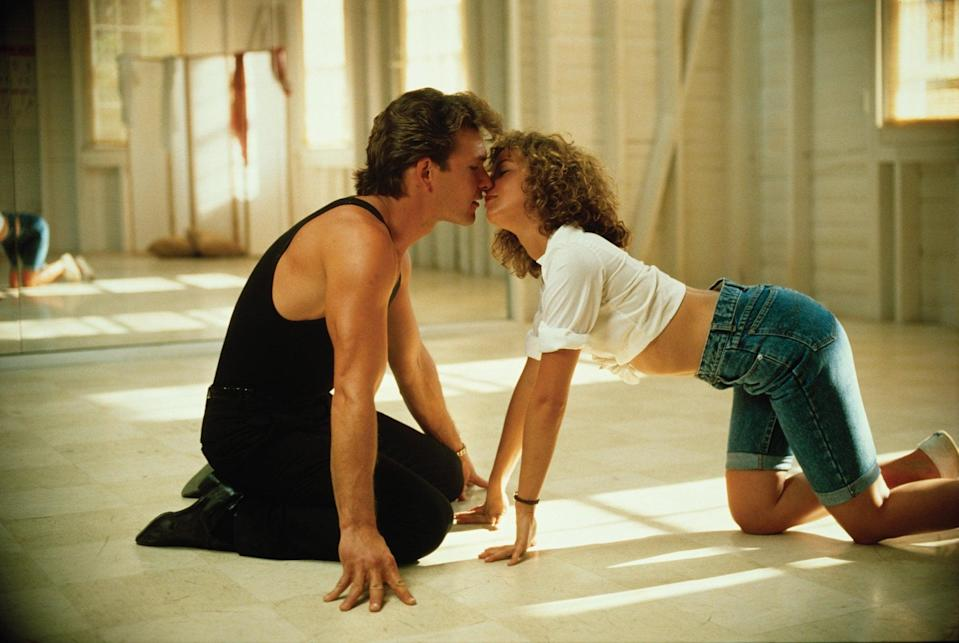 <p><strong>For Baby:</strong> A white button-down knotted like a crop top and knee-high denim cutoffs will turn you into this movie icon.</p> <p><strong>For Johnny:</strong> A black tank top and pants are all you need to recreate Jonny's look.</p>
