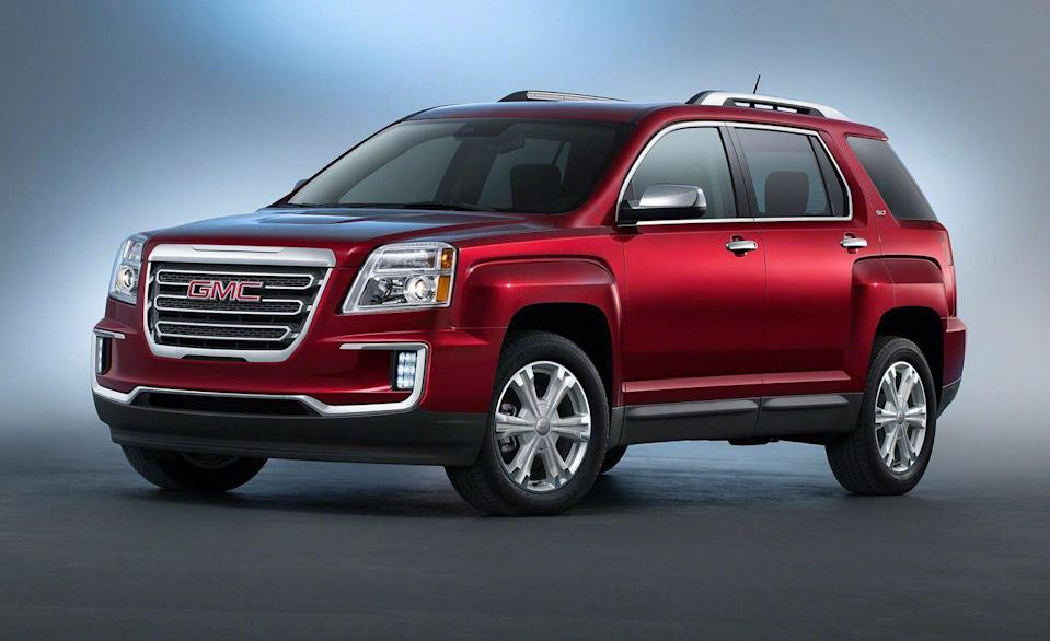 """<p>A mechanical twin to the <a href=""""http://caranddriver.com/chevrolet/equinox"""" rel=""""nofollow noopener"""" target=""""_blank"""" data-ylk=""""slk:Chevrolet Equinox"""" class=""""link rapid-noclick-resp"""">Chevrolet Equinox</a>, the <a href=""""https://www.caranddriver.com/gmc/terrain"""" rel=""""nofollow noopener"""" target=""""_blank"""" data-ylk=""""slk:GMC Terrain"""" class=""""link rapid-noclick-resp"""">GMC Terrain</a> is a Canadian-built compact crossover with tough styling and available all-wheel drive. Two generations have hit the showrooms since 2010. The first lasted until 2017, and the second arrived in 2018 and remains on sale today. Data shows the 2014 model has solid reliability, along with models sold from 2016 to the present. The first design was powered by either a 2.4-liter four-cylinder engine or a big 3.6-liter V-6, which offers strong acceleration. Both were mated to a six-speed automatic. Starting in 2018, GMC offered two turbocharged four-cylinders backed by a nine-speed automatic to improve fuel economy. The larger of the two engines was also used in a long line of General Motors products, including the Chevy Camaro. In the Terrain, the 2.0-liter made a strong 252 horsepower. Prices start right around $9500.</p>"""