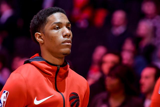 The Raptors already had depth concerns before Patrick McCaw went down with an injury. (Photo by Anatoliy Cherkasov/NurPhoto via Getty Images)
