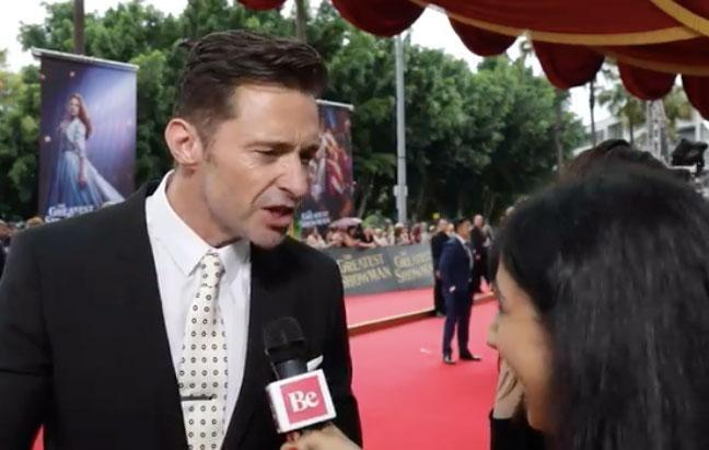 While appearing on the red carpet at the Sydney premiere of his latest film The Greatest Showman, Hugh Jackman chose to do some fun