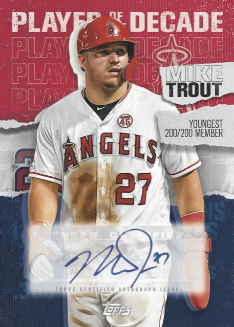 Mike Trout trading card