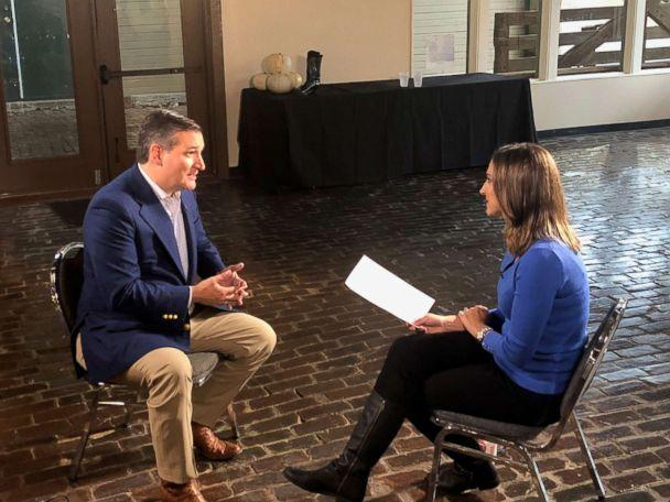 PHOTO: Sen. Ted Cruz speaks with about ABC News' Paula Faris about the midterm elections and other topics. (ABC News)