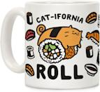 <p>The <span>LookHuman California Cat Roll Mug</span> ($15) is perfect for punny sushi enthusiats.</p>