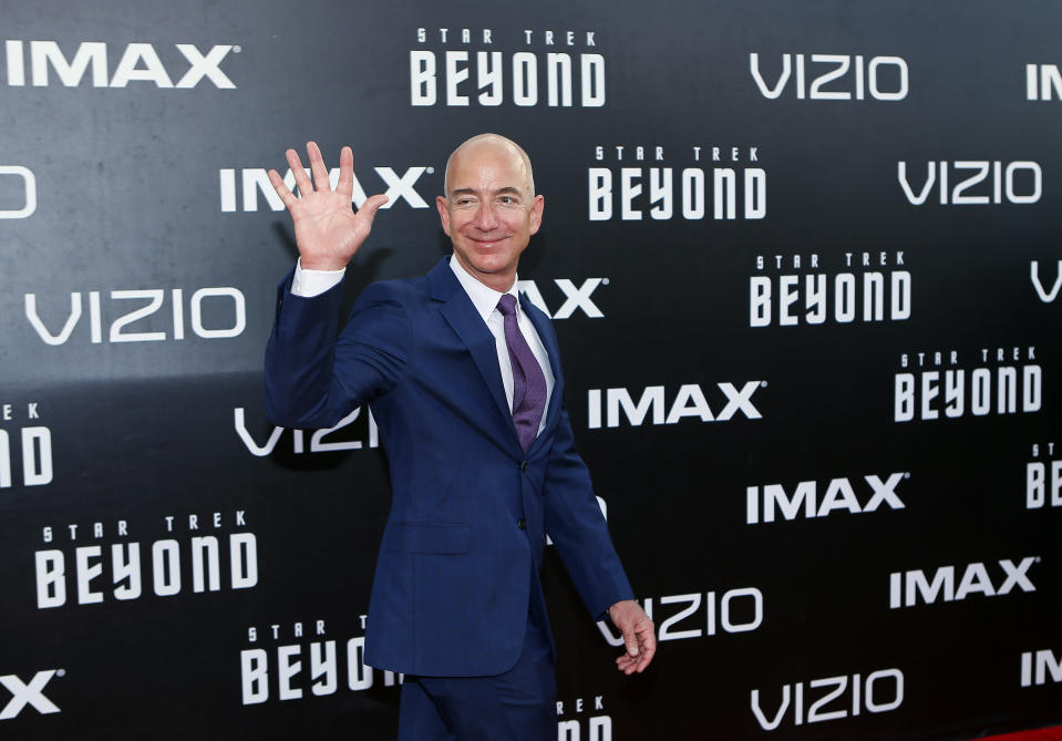 Bezos played an alien Starfleet official in the movie <em>Star Trek Beyond</em> in 2016. In <em>The Simpsons</em>, he gave his voice for his animated character.
