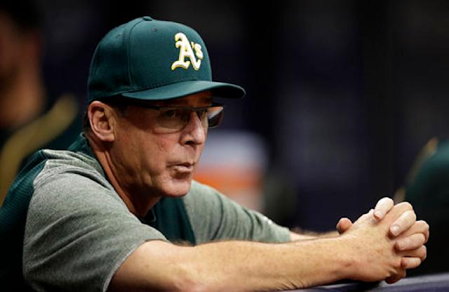 Bob Melvin is back with the A's. (AP Photo/Chris O'Meara, File)