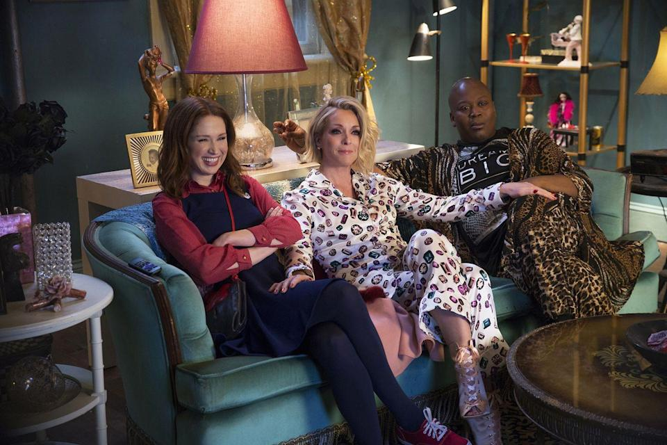 """<p>Tina Fey is the co-creator of this beloved comedy, one with a resounding message sprinkled throughout its theme song: """"<a href=""""https://www.youtube.com/watch?v=LIdFa1qLgNQ"""" rel=""""nofollow noopener"""" target=""""_blank"""" data-ylk=""""slk:females are strong as hell!"""" class=""""link rapid-noclick-resp"""">females are strong as hell!</a>"""" With Jane Krakowski and Titus Burgess as strong supporting castmates, Ellie Kemper stars as Kimmy, a woman who manages to escape captivity then navigate the modern world after 15 years spent in an end-of-times bunker. The fourth and final season will air in 2019, and a movie is <a href=""""https://www.hollywoodreporter.com/live-feed/unbreakable-kimmy-schmidt-end-2019-season-four-part-two-movie-1116019"""" rel=""""nofollow noopener"""" target=""""_blank"""" data-ylk=""""slk:reportedly"""" class=""""link rapid-noclick-resp"""">reportedly</a> in the works. </p><p><a class=""""link rapid-noclick-resp"""" href=""""https://www.netflix.com/title/80025384"""" rel=""""nofollow noopener"""" target=""""_blank"""" data-ylk=""""slk:Watch Now"""">Watch Now</a><br></p>"""