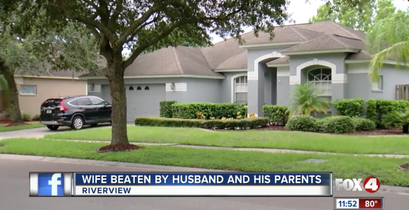 A 33-year-old woman was found badly beaten inside this Florida home. (Fox4 News)