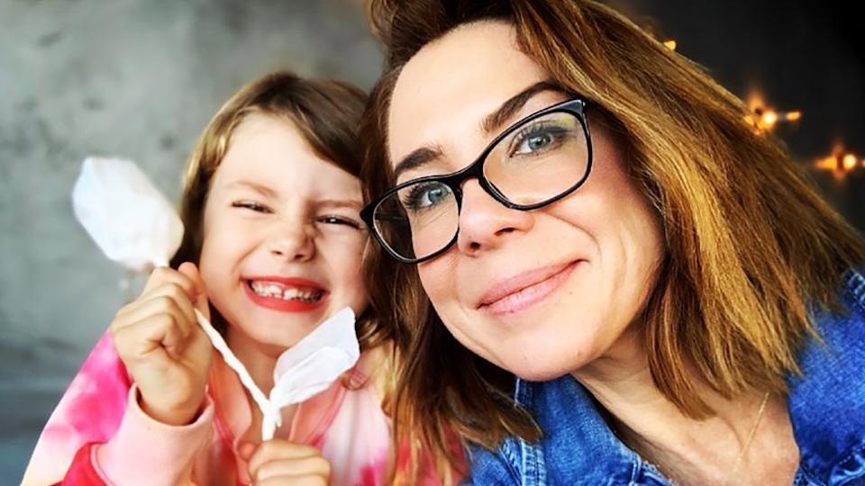 Former Home and Away star Kate Ritchie and daughter Mae