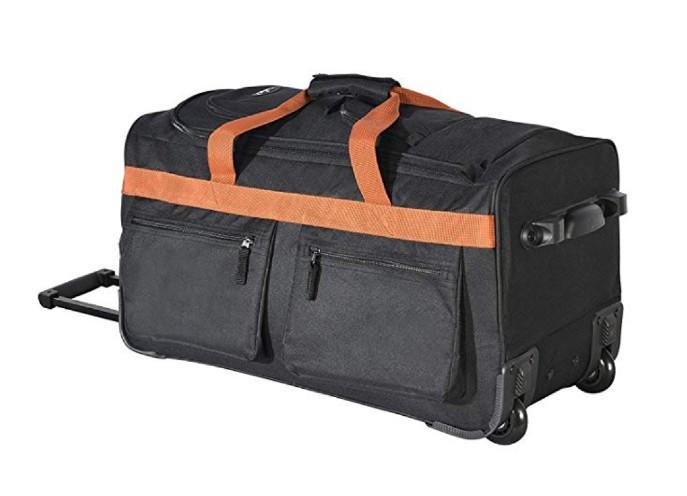 Olympia 8 Pocket Rolling Duffel Bag. (Photo: Amazon)