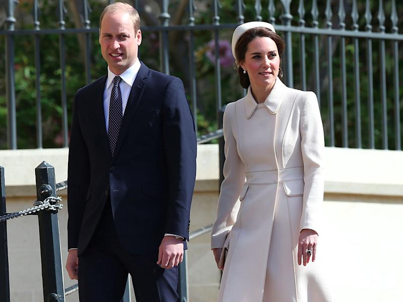 will and kate easter sunday