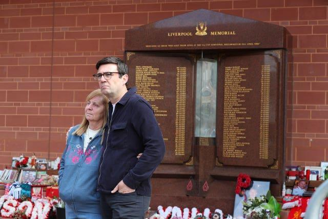 Hillsborough campaigner, Margaret Aspinall, with Mayor of Greater Manchester Andy Burnham