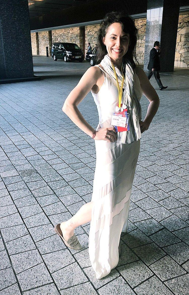 Last-Minute Dress Code LeftNYT Reporter Wearing Her Wedding Dress to Cover Trump's Dinner at Japan's Imperial Palace