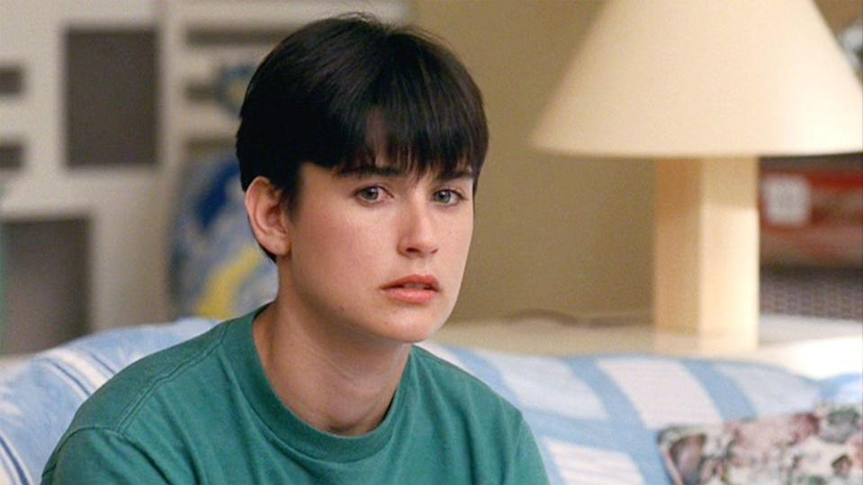 <p>Thanks to Demi Moore's pixie cut with arched bangs in <em>Ghost,</em> we wanted a pixie cut with arched bangs—and no, we could not pull it off. The low-maintenance style became super trendy after this movie came out.</p>