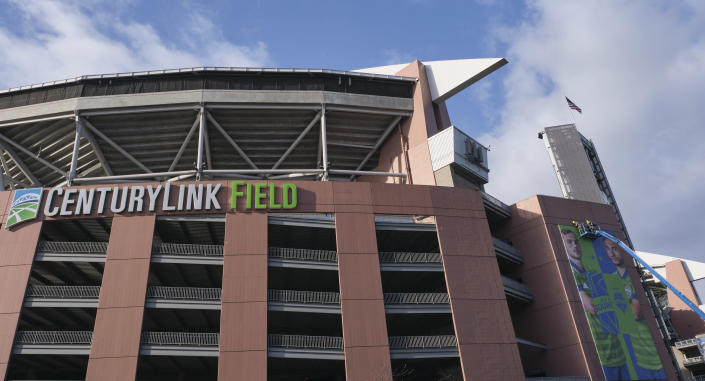 CenturyLink Field in Seattle will be a lot quieter than usual for the first few Seahawks games this season. (AP Photo/Stephen Brashear)