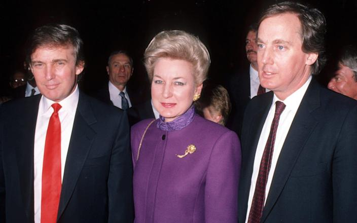 Donald Trump and his older sister Maryanne and his younger brother Robert - Ron Galella Collection/Ron Galella