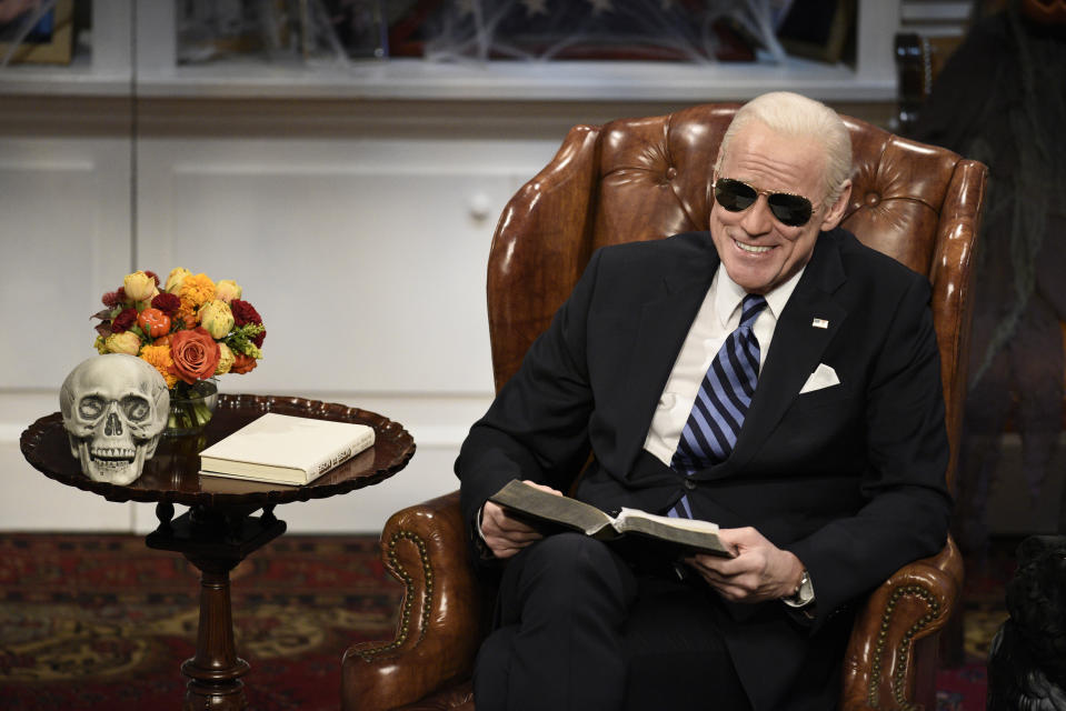 "Jim Carrey resigned from his role as President-Elect Joe Biden on ""Saturday Night Live."" (Photo: Kyle Dubiel/NBC/NBCU Photo Bank via Getty Images)"