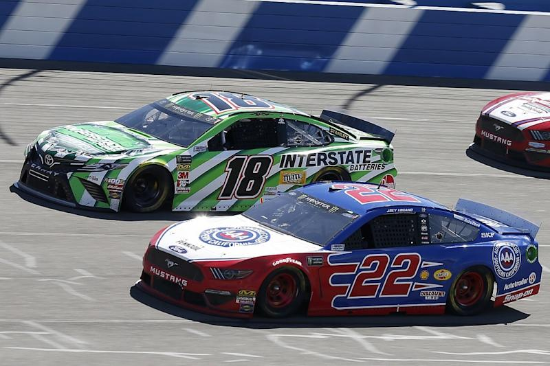 Logano: Busch blew our doors off in Fontana race