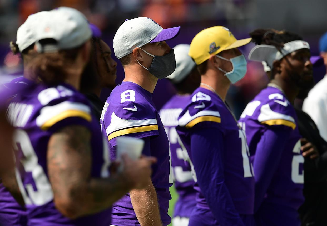 A number of Vikings players, including QB Kirk Cousins, have not received the COVID-19 vaccine. (John Autey / MediaNews Group / St. Paul Pioneer Press via Getty Images)