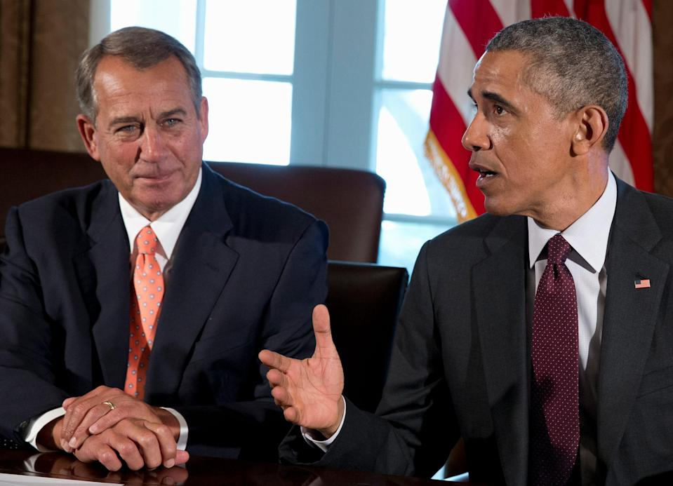 John Boehner and Barack Obama expressed fondness for each other, but each criticized the other's leadership qualities.