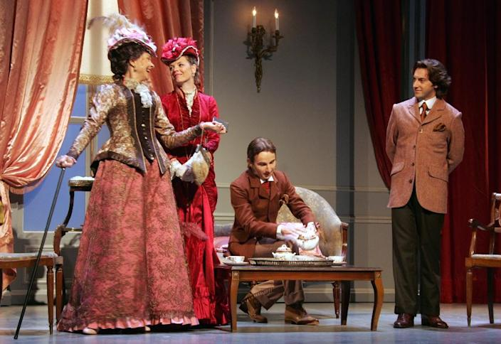 """Oscar Wilde's """"The Importance of Being Earnest"""", here performed in Paris in 2006, is considered by many the writer's masterpiece and had played to packed houses in London when it first appeared in 1895 (AFP Photo/Dominique Faget)"""