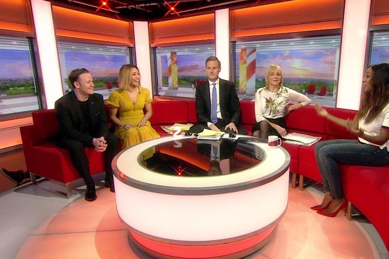 Gaffe: A producers feet could be seen sticking out from the sofa (BBC)
