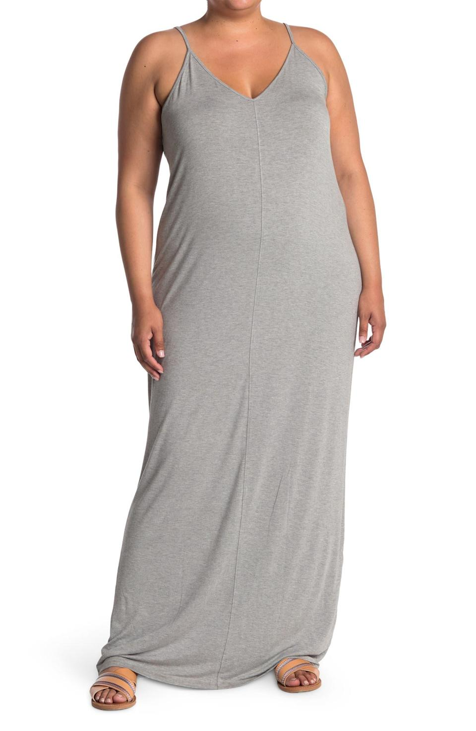 """<h2>Abound Sleeveless Maxi Dress</h2><br>A <a href=""""https://www.refinery29.com/en-us/best-long-sundresses"""" rel=""""nofollow noopener"""" target=""""_blank"""" data-ylk=""""slk:long summer dress"""" class=""""link rapid-noclick-resp"""">long summer dress</a> for long summer days is a warm-weather wardrobe must, and according to over 100 cyber shoppers, this particular style is guaranteed to please... and it won't cost you more than $20. <br><br><strong>The Hype:</strong> 4.3 out of 5 stars; 116 reviews on <a href=""""https://www.nordstromrack.com/s/abound-v-neck-sleeveless-maxi-dress-plus-size/6032655"""" rel=""""nofollow noopener"""" target=""""_blank"""" data-ylk=""""slk:NordstromRack.com"""" class=""""link rapid-noclick-resp"""">NordstromRack.com</a><br><br><strong>What They're Saying:</strong> """"Finally something true to size! To everyone that is curvy and heavy chested, this dress fits great!! It's true to size and is thin material great for spring and summertime.. It is long so know that!! I do can't wait to wear it this summer!!"""" — Csmooches, NordstromRack.com reviewer<br><br><strong>Abound</strong> V-Neck Sleeveless Maxi Dress, $, available at <a href=""""https://go.skimresources.com/?id=30283X879131&url=https%3A%2F%2Fwww.nordstromrack.com%2Fs%2Fabound-v-neck-sleeveless-maxi-dress-plus-size%2F6032655"""" rel=""""nofollow noopener"""" target=""""_blank"""" data-ylk=""""slk:Nordstrom Rack"""" class=""""link rapid-noclick-resp"""">Nordstrom Rack</a>"""