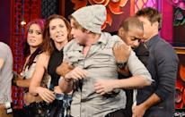"""<p>Due to the tension between contestants and the high pressure environment, production doesn't mess around with physical altercations. The show always has <a href=""""https://www.usmagazine.com/entertainment/pictures/mtvs-the-challenge-all-your-burning-questions-answered/"""" rel=""""nofollow noopener"""" target=""""_blank"""" data-ylk=""""slk:security around"""" class=""""link rapid-noclick-resp"""">security around</a> and ready to intervene if things get out of control.</p>"""