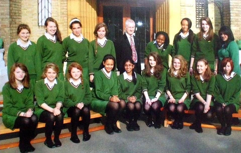 Nadine at secondary school in Year 10 (Supplied)