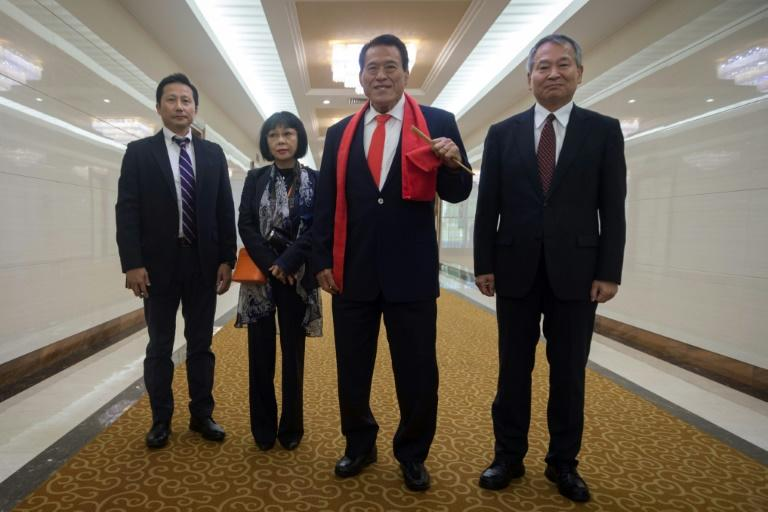 "Japanese wrestler-turned-politician Kanji ""Antonio"" Inoki has made multiple trips to Pyongyang and claims he want to ""contribute to world peace through sports"""