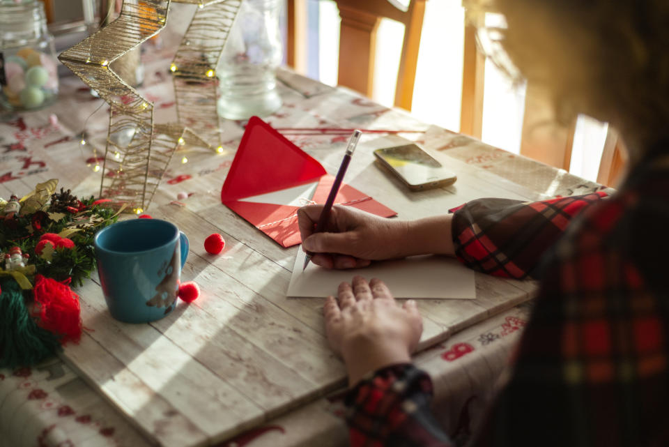 """Psychologist Kim Singline said, """"""""Writing heartfelt letters or cards, or sending thoughtful gifts, can be a lovely way to stay connected and let others know you are thinking of them."""" Photo: Getty"""
