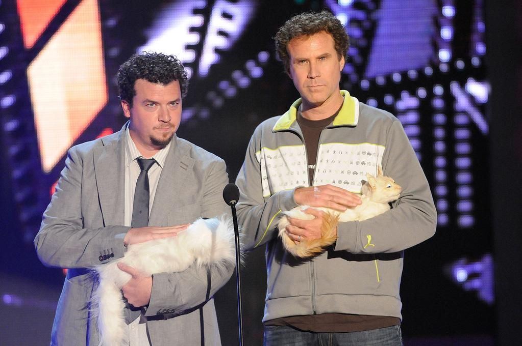 "<a href=""http://movies.yahoo.com/movie/contributor/1802103902"">Danny R. McBride</a> and <a href=""http://movies.yahoo.com/movie/contributor/1800019430"">Will Ferrell</a> present the award for Best Comedic Performance during the 18th Annual MTV Movie Awards - 05/31/2009"
