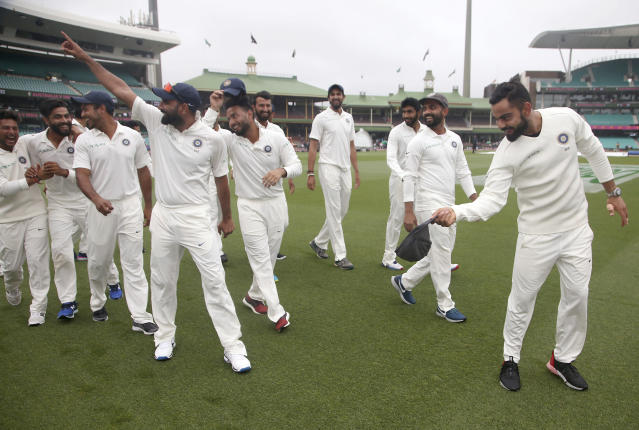 Virat Kohli's men became the first Indian team to have won a Test series in Australia. As the final Test match in Sydney ended in a draw, India came out victorious 2-1 in the four-match Test series.