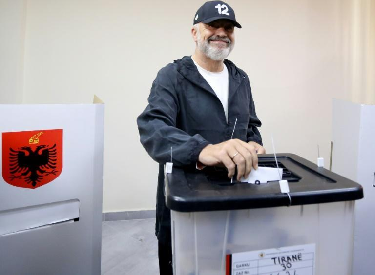 Edi Rama, in power since 2013, has not yet claimed victory following Sunday's poll