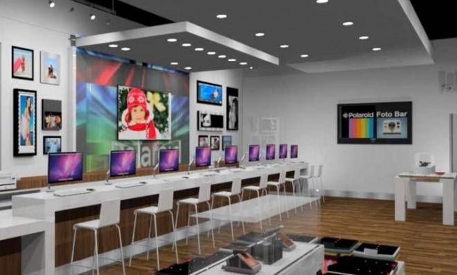 The Polaroid Fotobar store: A novel idea for the digital age developed by the people who revolutionized instant photos.