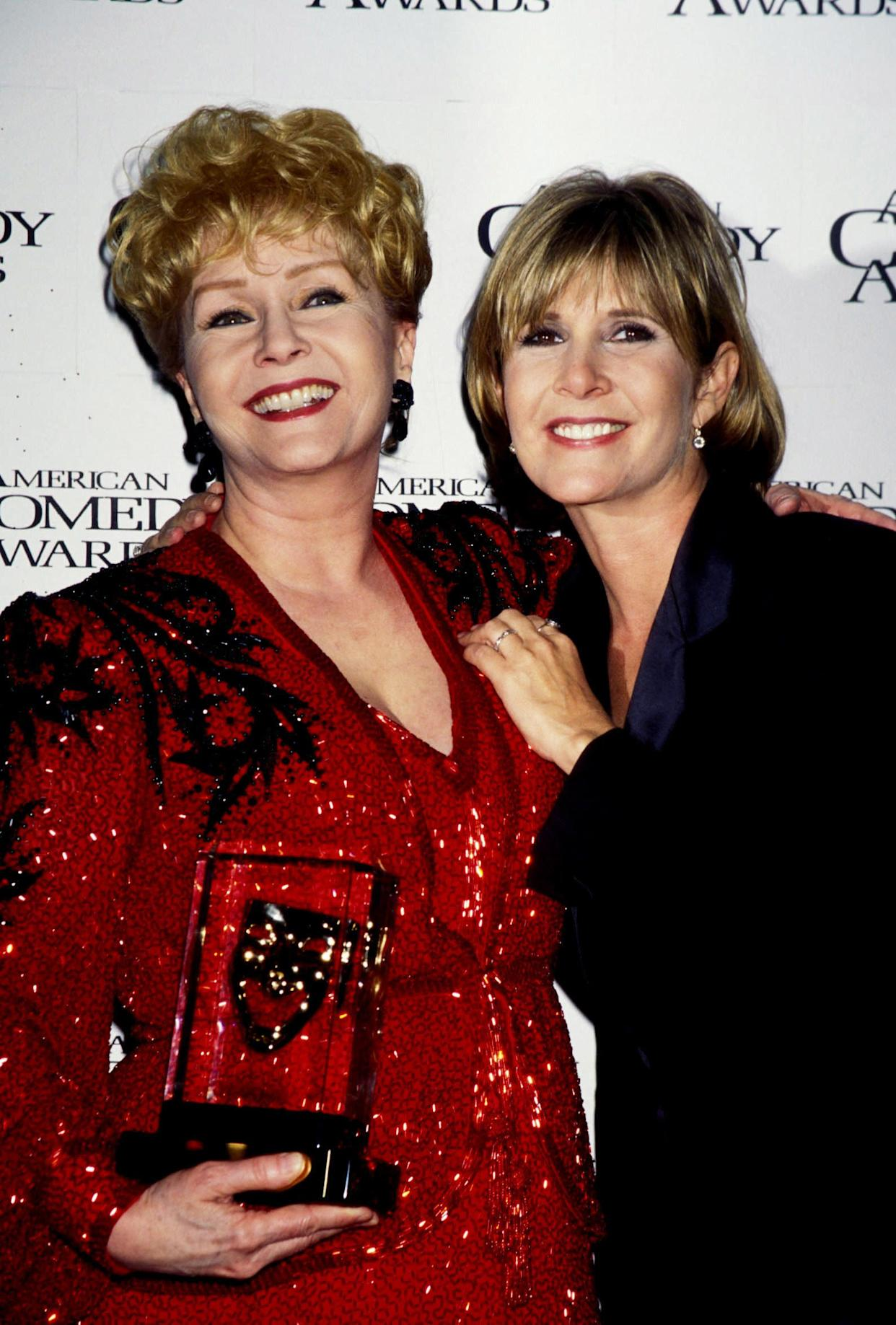 Debbie Reynolds and Carrie Fisher at the11th Annual American Comedy Awards at the Shrine Auditorium in Los Angeles in 1997.