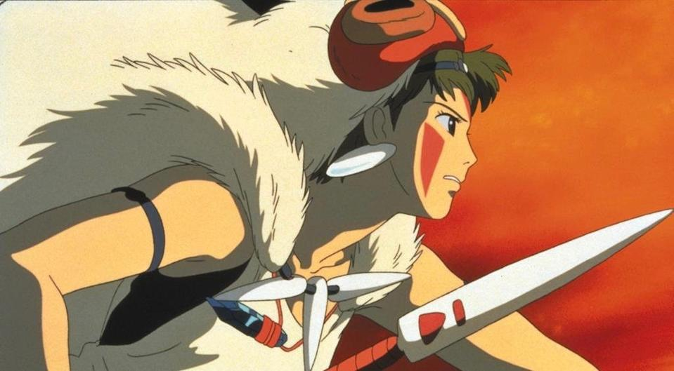 Princess Mononoke, San, fights to protect the forest from human interference. (Studio Ghibli)