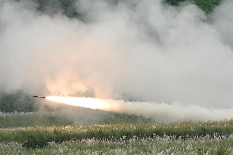 The HIMARS system, seen here in action during a 2016 US military exercise in the Philippines, allows a precision attack ability even in poor weather