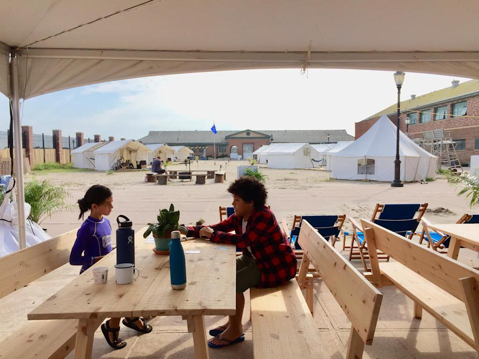Hospitality tent at Camp Rockaway (Photo by Kent Johnson)