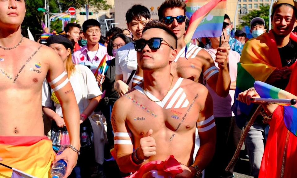 Marchers at Taipei Pride