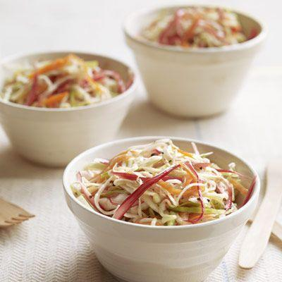 """<p>Looking for something a little more savory? This sweet-hot pickled rhubarb slaw is just the thing.</p><p><strong><a href=""""https://www.countryliving.com/food-drinks/recipes/a3385/rhubarb-slaw-recipe-clv0510/"""" rel=""""nofollow noopener"""" target=""""_blank"""" data-ylk=""""slk:Get the recipe"""" class=""""link rapid-noclick-resp"""">Get the recipe</a>.</strong></p><p><strong><a class=""""link rapid-noclick-resp"""" href=""""https://www.amazon.com/Ball-Wide-Mouth-Mason-capacity/dp/B07RZVPM35/?tag=syn-yahoo-20&ascsubtag=%5Bartid%7C10050.g.32771294%5Bsrc%7Cyahoo-us"""" rel=""""nofollow noopener"""" target=""""_blank"""" data-ylk=""""slk:SHOP PICKLING JARS"""">SHOP PICKLING JARS</a><br></strong></p>"""
