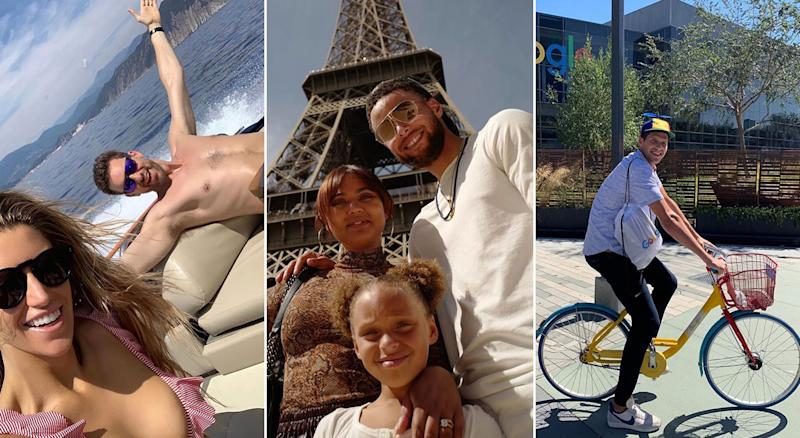 NBA players are living their best lives this summer.