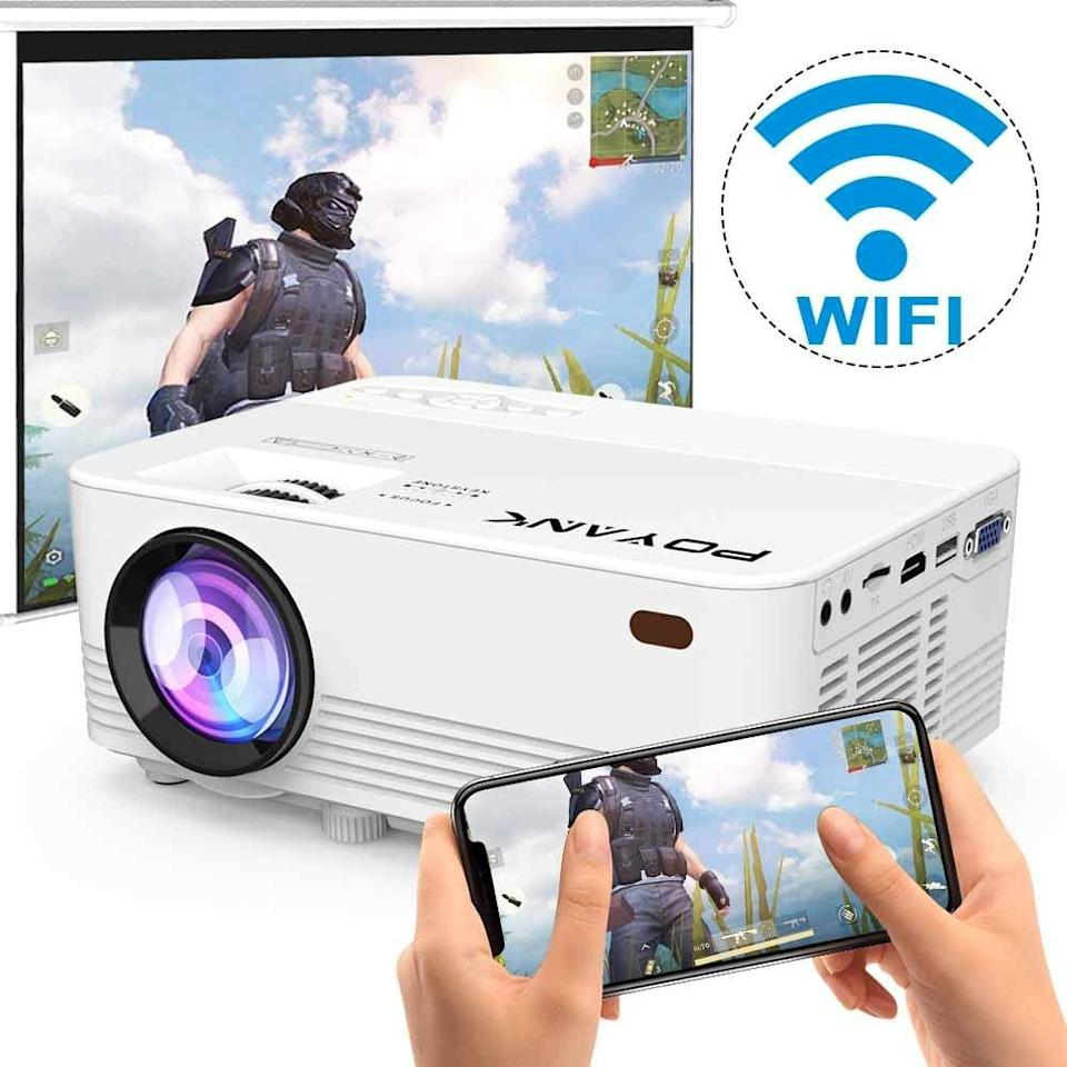 """<br><br><strong>POYANK</strong> WiFi Projector, 6000Lumens Full HD 1080P, $, available at <a href=""""https://amzn.to/33ZiEPY"""" rel=""""nofollow noopener"""" target=""""_blank"""" data-ylk=""""slk:Amazon"""" class=""""link rapid-noclick-resp"""">Amazon</a>"""