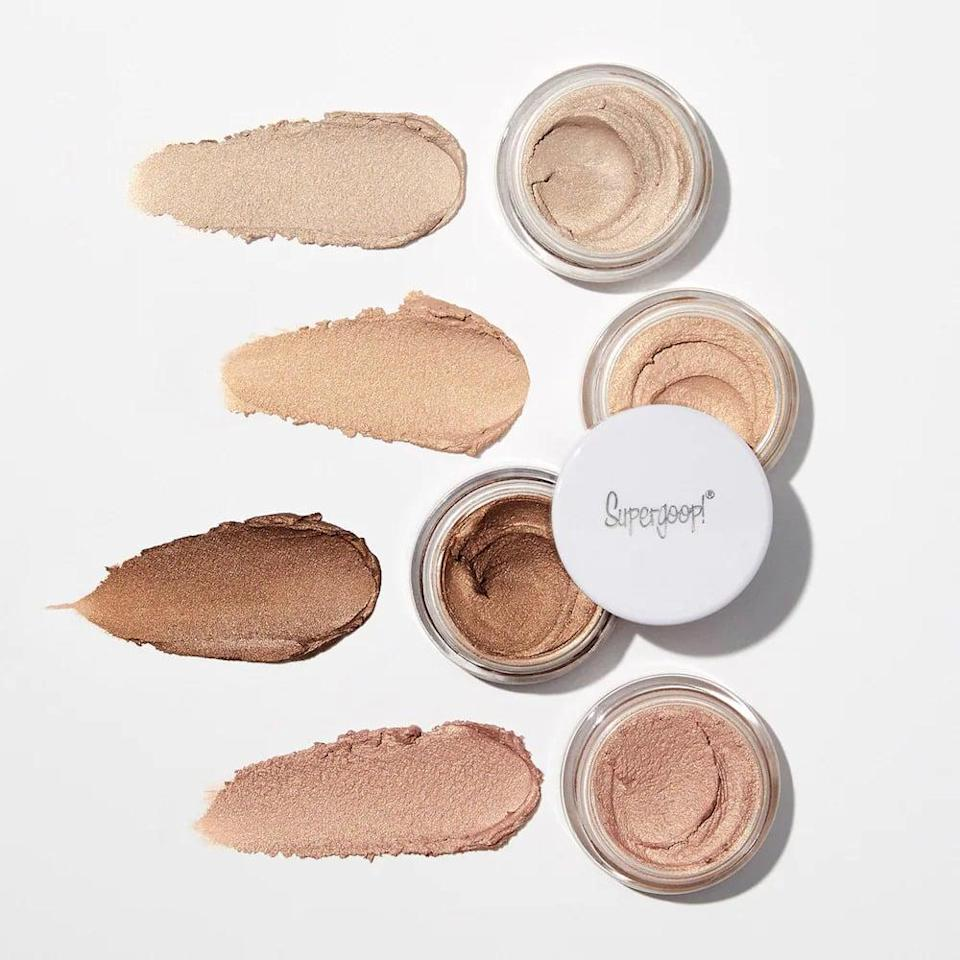<p>Not only can you pat on the <span>Supergoop! Shimmershade Illuminating Cream Eyeshadow SPF 30</span> ($24) to your lids in seconds, but it will also protect your delicate eye area from harmful UVA and UVB rays.</p>