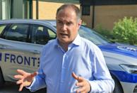 Frontex chief Fabrice Leggeri inspected the Belarus-Lithuania border this week
