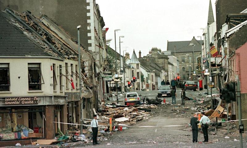 The scene of the 1998 Omagh bombing, which killed 29 people in County Tyrone