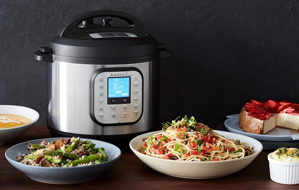 Instant Pot Duo Nova 7-in-1 Electric Pressure Cooker helps create delicious meals in a flash. Image via Amazon.